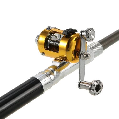 Portable Mini Telescopic Fishing Rod Reel Combo Kit Pocket Pen Fishing Pole Set
