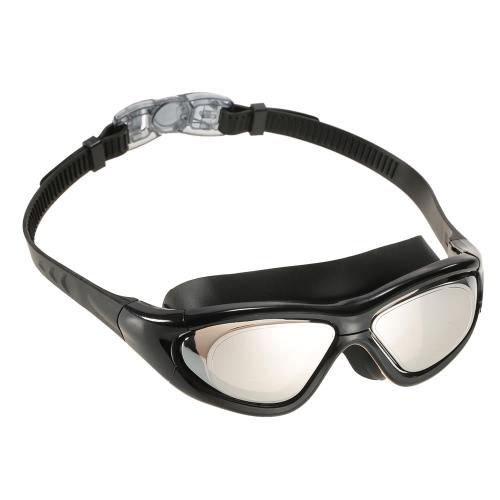 Unisex adulti professionale Glare riduzione Mirrored rivestimento anti-nebbia protezione UV Occhialini da nuoto Sport Eyewear Occhiali Costume da bagno con il caso di immagazzinaggio