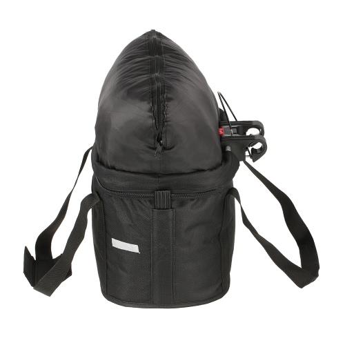 Bicycle Basket Detachable Cycling Bike Handlebar Front Carrier Bag Pet Carrier Aluminum Alloy Frame