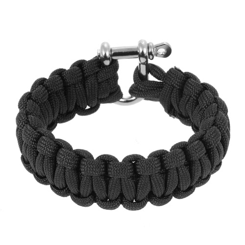 2PCS 330 Paracord Bracelet Shackle Weaving Survival 304L Steel U Пряжка