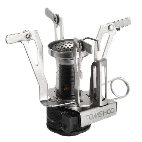 TOMSHOO Mini Backpacking Canister Stove Burners Camping Outdoor Cooking Foldable Hiking Supply Butane Propane Canister Compatible - US$9.94 Sales Online - ...