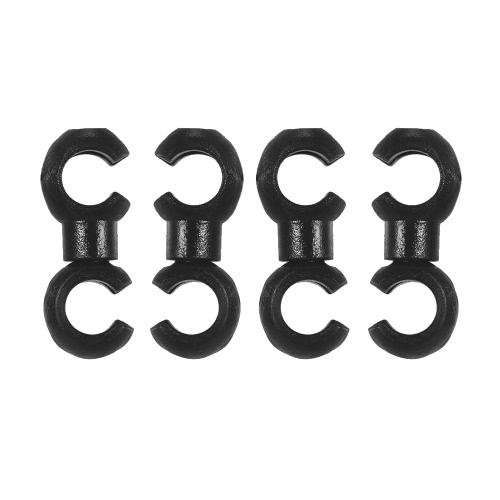 4PCS drehbare MTB Bremse Linie C / S Wölbungs-Fahrrad-Bremsen-Umwerfer-Umschalt-Kabel-Linie Rohr-Rohrleitungs-Speicher-Vorrichtung Ring-Haken