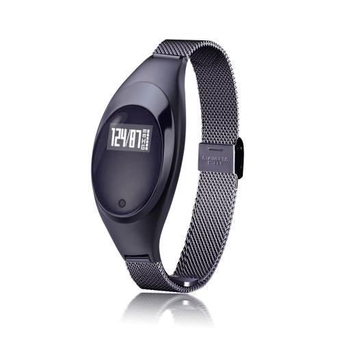 Frauen-Art und Weise BT intelligentes Uhr-Metallarmbanduhr-Armband-hohe Definitions-LED mit Blutdruck-Herzfrequenz-Monitor-Schrittzähler-Eignung-Verfolger