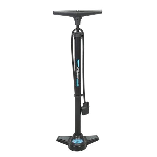 SAHOO 2017 Radfahren MTB Aluminiumlegierung Fahrrad-Fußboden-Pumpen-Fahrrad-Pumpe mit Manometer-Hochdruck 160PSI Fahrrad-Zusätze