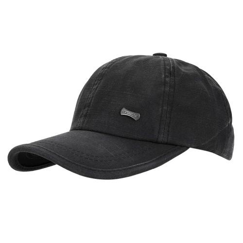 Ajustable gorra de béisbol de color sólido casquillo de snapback sombrero casual de ocio de moda unisex