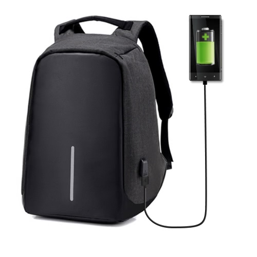 Mochila de viagem para laptop anti-roubo com tomada USB de carga de carga