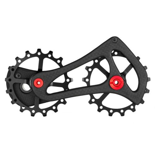 Lixada 17T Carbon Fiber Rennrad Schaltwerk Riemenscheiben Jockey Wheel Set