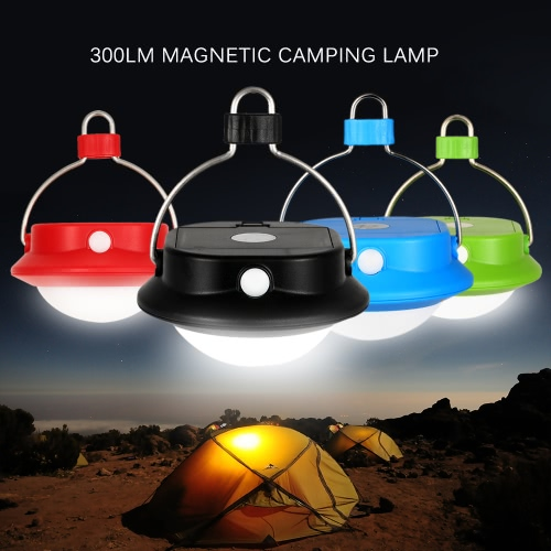 Docooler Portable Super Bright Magnetic 300LM LED Camping Tent Lamp Lantern Light