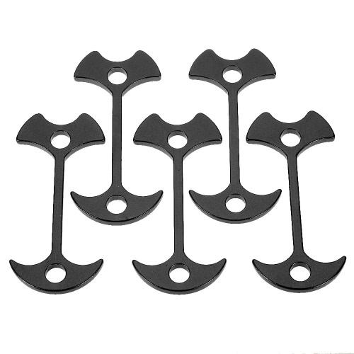 Lixada im Freien Aluminiumlegierungs-Plattform-Stöpsel-Fisch-Knochen-Plattform-Zelt-Stöpsel-Wind-Stopper-Wölbungs-kampierendes Werkzeug