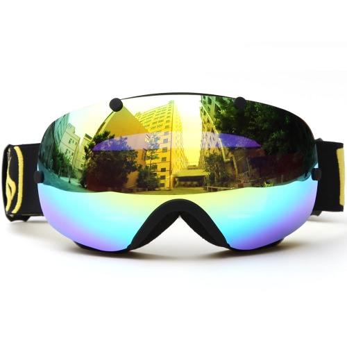 Зимние лыжные очки UV400 Защита Двойные линзы Сноуборд Сферические катание на коньках Сноубординг Спортивные очки Goggle Съемные объективы