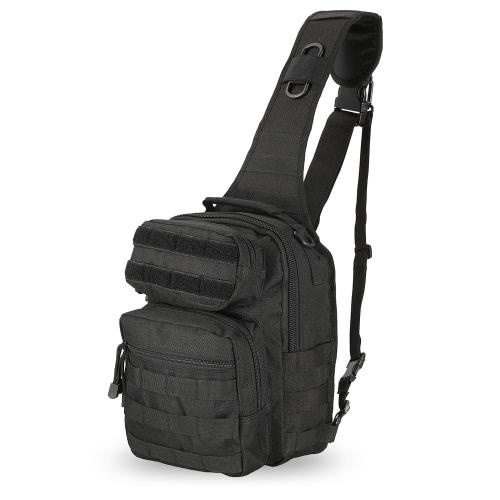 Outdoor Gear Sling Pack Rucksack Single Schultertasche Chest Pack Tasche Sport Molle Daypack für Camping Wandern Jagd