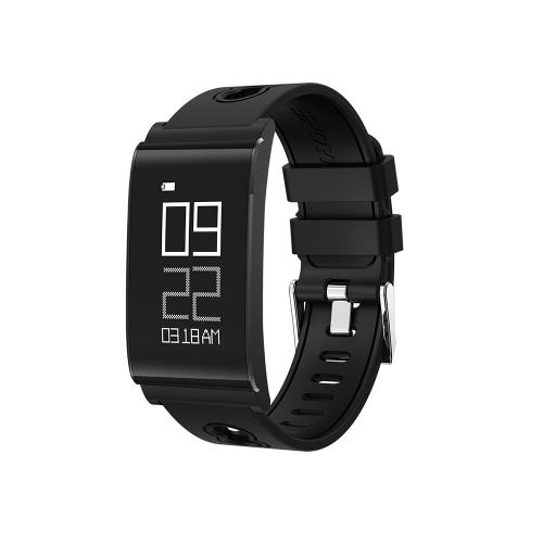 Ultra Thin Fitness Tracker Salud Sleep Activity Tracker Reloj deportivo Pulsera con presión arterial Monitor de ritmo cardíaco Pulsera inteligente inalámbrica Outdoor Running Walking para iPhone / Android IP67 A prueba de agua