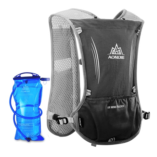 AONIJIE Reflective Vest Sport Water Bottle Backpack Bag for Running Cycling Clothes Safety Gear with 1.5
