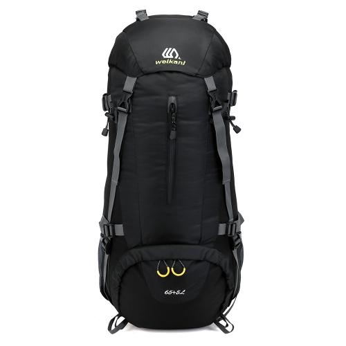 65 + 5L deporte al aire libre senderismo trekking camping mochila de viaje mochila de alpinismo escalada mochila con cubierta de lluvia