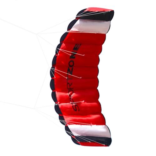 Двойная линия парашютный кайт с катером с летающими инструментами Parafoil Kite Outdoor Beach Fun Sports