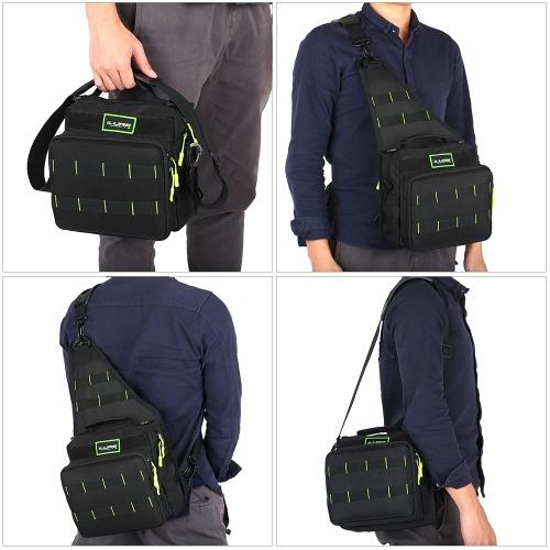 Immagine di Sport Single Shoulder Fishing Tackle Bag Zaino o Crossbody Messenger Borse a tracolla per campeggio escursionismo Ciclismo all'aperto Sport