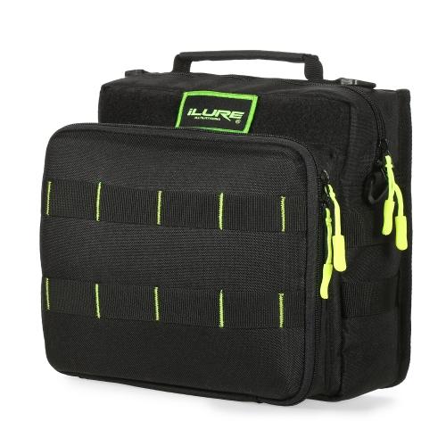 Sport Single Schulter Angelgerät Tasche Rucksack oder Crossbody Messenger Sling Taschen für Camping Wandern Radfahren im Freien Sport