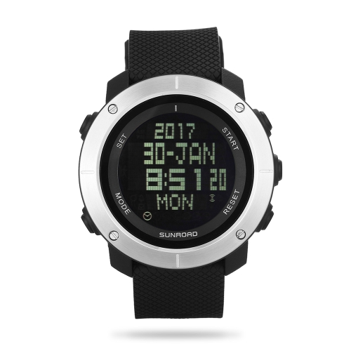 SUNROAD Спортивные часы секундомер обратный отсчет 5ATM водонепроницаемые часы