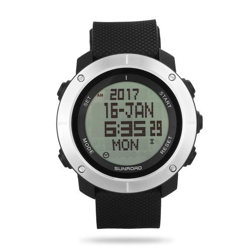 SUNROAD Sportuhr Stoppuhr Countdown 5ATM wasserdichte Uhr