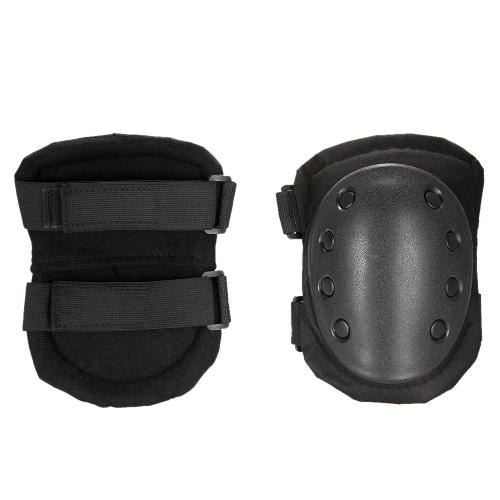 Lixada 2PCS Heavy Duty Outdoor Juego de almohadillas protectoras avanzadas con almohadillas para rodillas y codo para paintball Patinaje ajustable Codo rodilleras