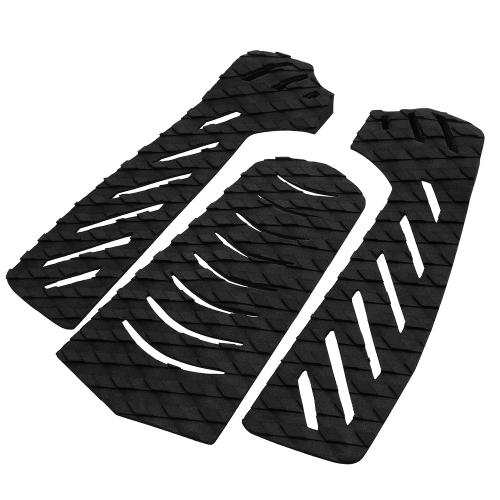 Set di 3 pezzi Tavola da surf Traction Tail Pads Surf Deck Prese adesive Adesivo Stomp Pad per Surfing Skimboarding Sport acquatici Accessori