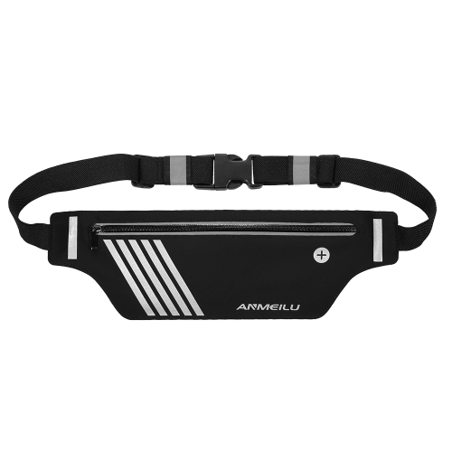Ultralight Running Belt Fitness Workout Riñonera reflectante Fanny Pack para Hombres Mujeres 55g