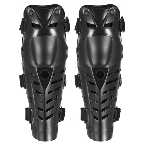 1 par de espinilleras de rodilla transpirable ajustable manga de la rodilla Cojines protectores de la armadura para motocicleta Motocross Racing ciclismo