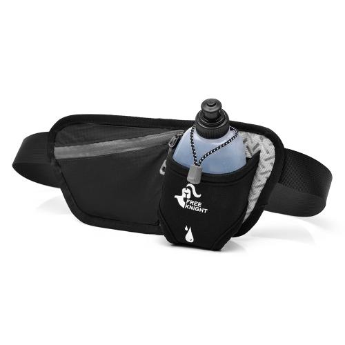 Multifuncional bolso de la cintura de senderismo bolso de la botella bolsa de running con una sola correa ajustable para ciclismo que acampa escalada de viaje