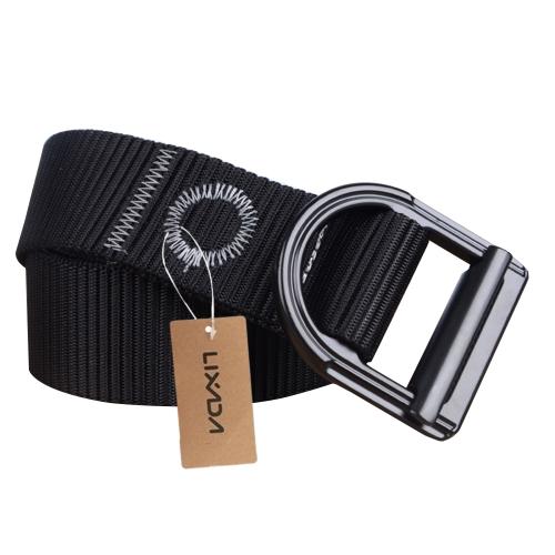 Lixada Unisex Outdoor Nylon Casual Cintura flessibile Cintura Heavy Duty regolabile con fibbia Accessori da caccia