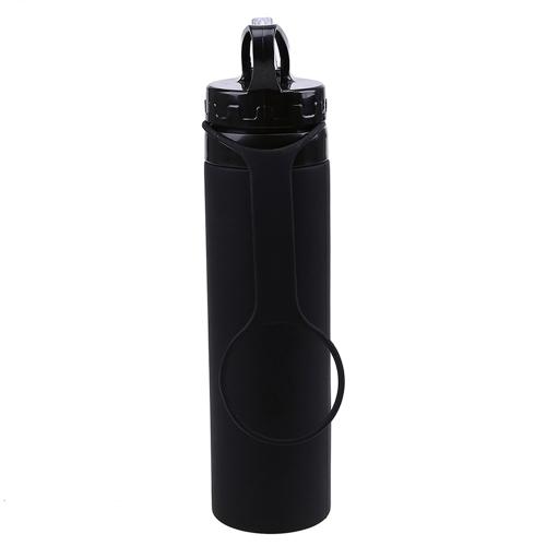 Bottiglia d'acqua in silicone pieghevole da 600ml