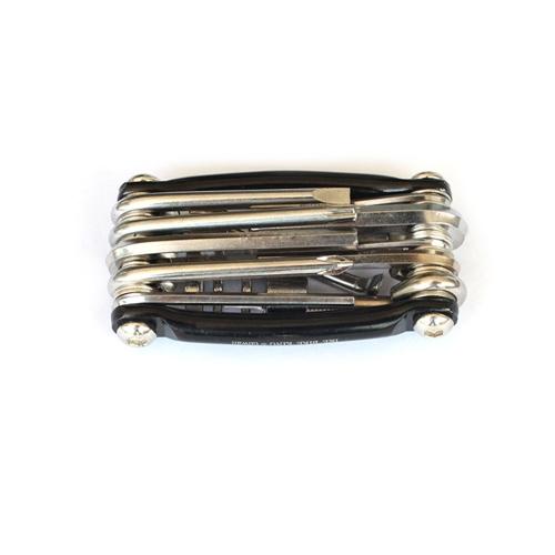 Kit di riparazione portatile per attrezzatura da ciclismo a combinazione multifunzione con attrezzi per mountain bike