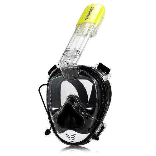 TOMSHOO 180 ° máscara de snorkel de cara completa