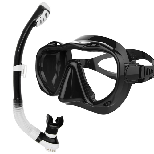 Immersioni subacquee Full Dry Breathing Tube Occhiali da nuoto Toughened Glass Mask Suit Maschera subacquea Occhiali da nuoto Set nuoto