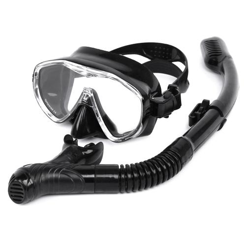 Schnorchel-Maske Schnorchel-Set Anti-Fog Unterwasser-Tauchen Silikon-Schlauch Schnorchel-Maske Schwimmen-Training Tauchmaske