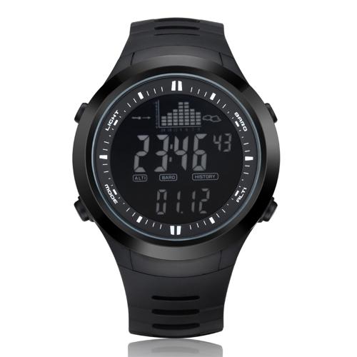 Men's Outdoor Digital Sport Watch Orologio da pesca Barometro Altimetro Termometro Previsioni meteorologiche Allarme tempesta Arrampicata escursionismo