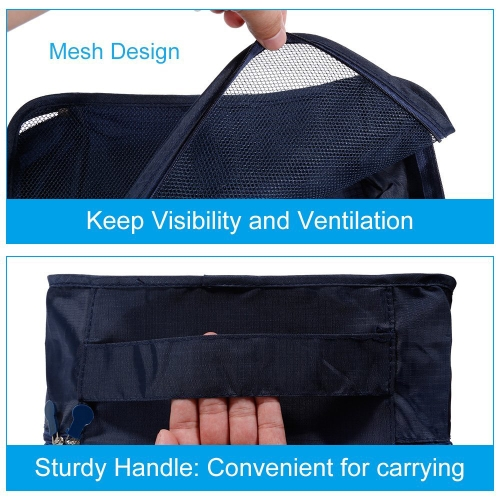 6pcs/set Lightweight Luggage Travel Bags Men and Women Packing Cubes Organizer Compression Pouches