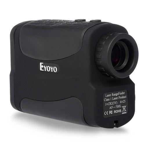700 Yards 6X 25mm Laser Range Finder con Speed Scan e Fog Measurement Rangefinder per la caccia e il golf