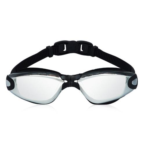 Gafas de natación de la protección antirreflejos del protector de la niebla del agua ajustable del adulto Gafas adultas con la caja de almacenamiento del clip de la nariz