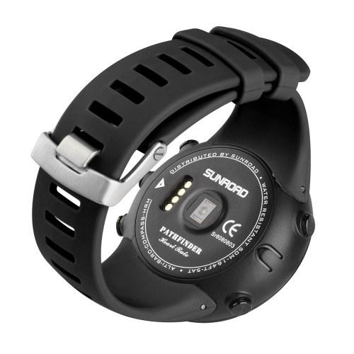 Heart Rate Monitor Sport Watch Altimeter Barometer Temperature Air Pressure Trend Compass 50M Water