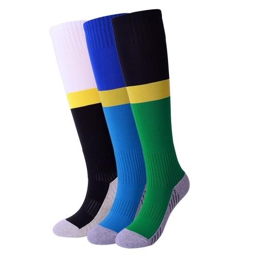 Calcetines absorbentes del fútbol de la