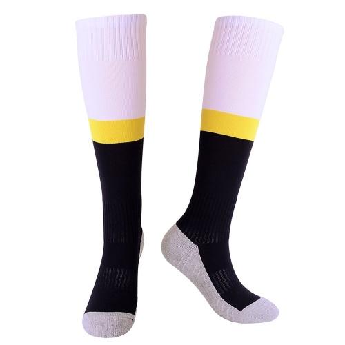 Saugfähige Jugend-Fußball-Socken-Kalb-Schutz-Fußball-Socken Sport-Strumpf-Tuch-untere Schlauch-Socken