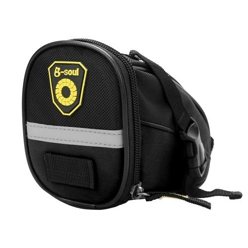 Radfahren Satteltasche MTB Fahrradsitz Tasche Repair Tools Pouch Pack mit reflektierenden Streifen
