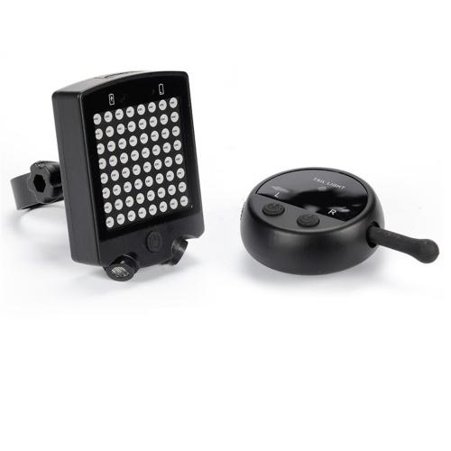 LED inalámbrico de control remoto Laser Bicycle Rear Tail Light Bike Señales de giro Safety Warning Light Señal de giro Laser Tail Light USB Recargable Luz de freno Equitación Gear