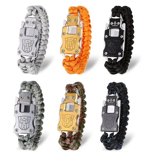 Outdoor Survival Armband Paracord Armband Wandern Reisen Exploration Camping Survival Gear Kit Notfall Fallschirm Seil mit Cutter
