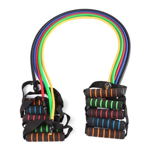 Fasce elastiche di resistenza da 120 cm Corda da tiro Yoga Fitness Allenamento Fasce sportive Corde elastiche Tubo Espansione banda