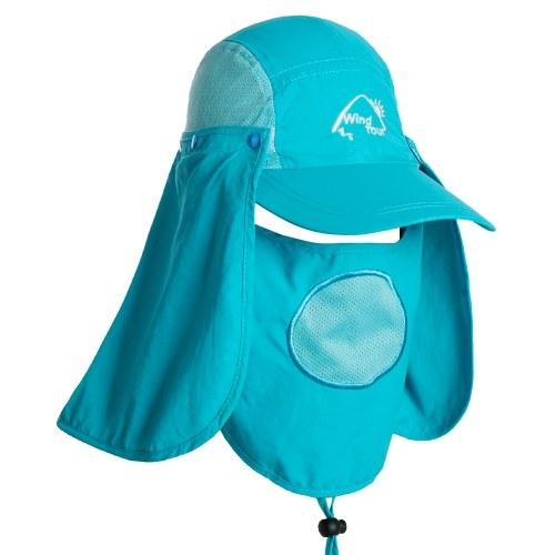 Outdoor Visier Hut mit UV Schutz Gesicht Hals Abdeckung 360 Grad Sun Protect Cap