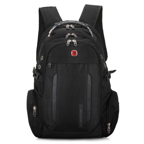 Новый швейцарский военный армейский многофункциональный сумка для ноутбука с 15-дюймовым экраном Backpack External USB Charge Schoolbag Black фото