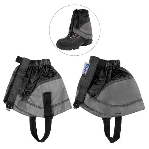 1 par de sapatilha curta Gaiter tornozelo ultra leve tornozelo revestido de náilon