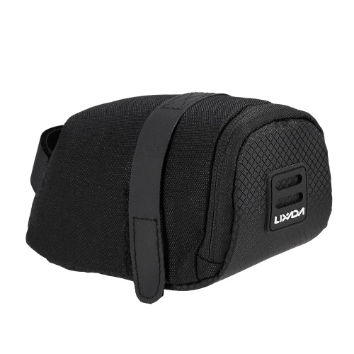 Lixada Mini Mountain Bike Saddle Bag Pouch Road Bicycle Seat Tail Pack Outdoor Cycling Seatpost Bag Image