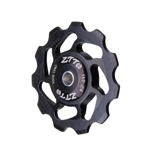 Polia cerâmica do rolamento da roda do jóquei da desviador traseira da bicicleta de 11T MTB